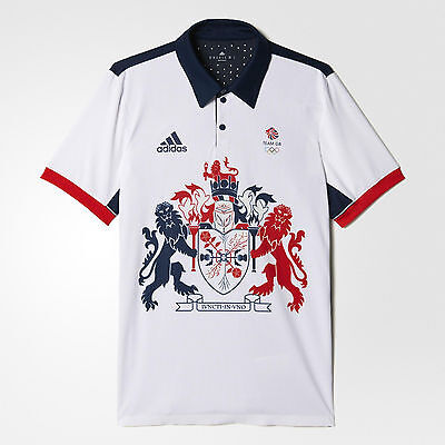 Adidas Olympics RIO 2016 Mens Team GB Climachill Polo Shirt Size Large