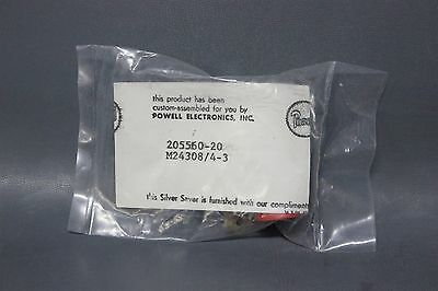 New Amp Mil Spec 25 Pin D-Sub Connector W/contacts M24308/4-3
