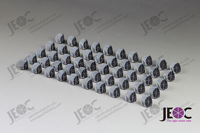 Aluminum Coated 1inch Corner Cube Prism, Plated Trihedral Retroreflector *50