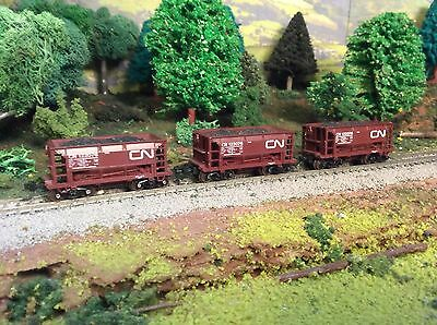 N Scale CN Coal Freight Car Lot With Acumate Knuckle Couplers