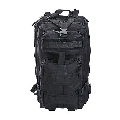 30L Military Molle Camping Backpack Tactical Camping Hiking Travel Bag Black