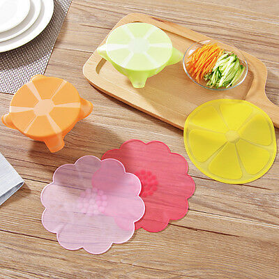 Silicone Bowl Seal Wrap Cover Refrigerator Food Fresh Keeping Closures Lids NEW