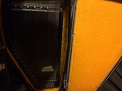 Rare Vintage autoharp oscar  Schmidt Musical Instrument In Case Folk Music