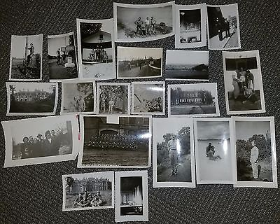 Lot of 20 WWII Photos Theatre Grouping Writing on Back France Belgium Germany