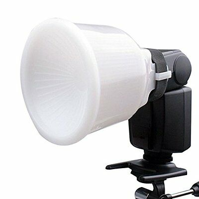 Universal White Cloud Lambency Flash Diffuser Reflector + Dome Cover For Camera