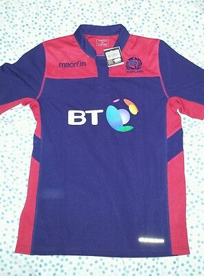 Scotland Rugby Football Shirt Jersey  Training NEW WITH TAGS Macron XL