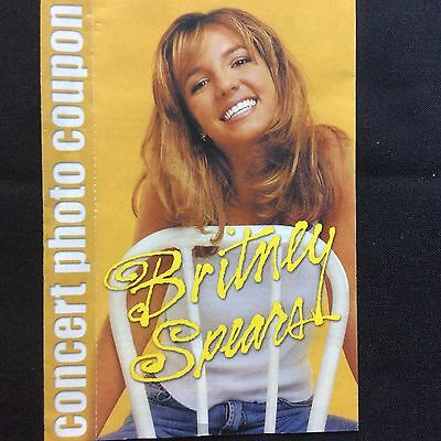 Britney Spears Concert 1999 Photo Coupon Pamphlet Rare