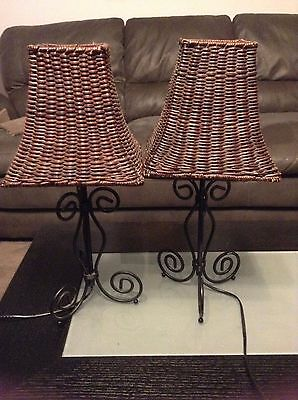 Lamp Shades Woven Wooden