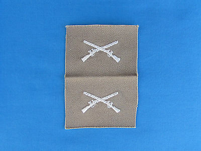 Early 1960 South Vietnam Color On Khaki Twill Infantry Bos Insignia Rvn Advisor