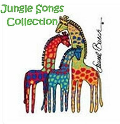 Jungle Songs Collection - Machine Embroidery Designs On Cd