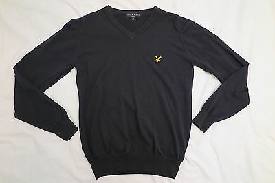 FRED PERRY - V-Neck Jumper - Cotton - BLACK - Size: Small SLIM FIT