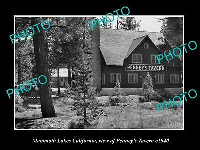 Old Large Historic Photo Of Mammoth Lakes California View Of Penneys Tavern 1940