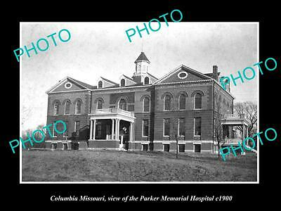 Old Large Historic Photo Of Columbia Missouri, The Parker Memorial Hospital 1900