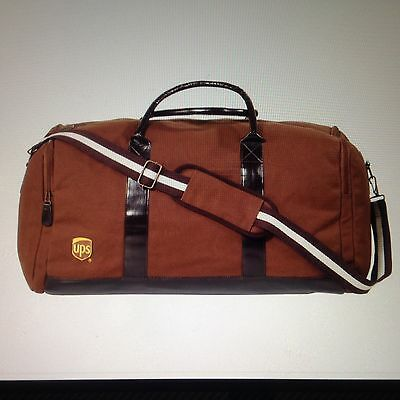 New United Parcel Service Heritage Travel Duffell Bag Cotton Ups Brown Last One