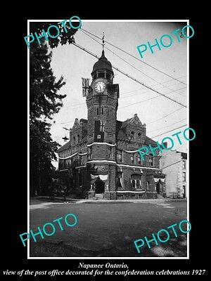 OLD LARGE HISTORIC PHOTO OF NAPANEE ONTARIO CANADA, THE POST OFFICE c1927