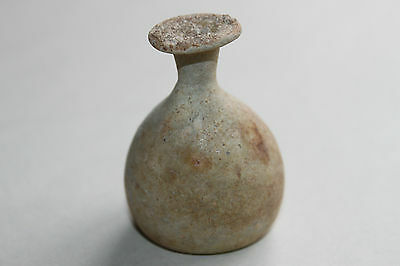 QUALITY ANCIENT ROMAN GLASS FLASK 2/3rd CENTURY AD