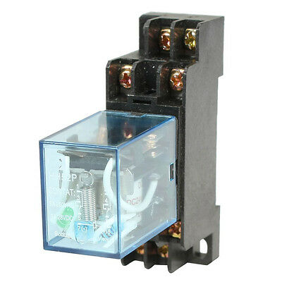 HH52P DC 24V Coil DPDT 8 Pins Electromagnetic Power Relay with DYF08A Base, F8J