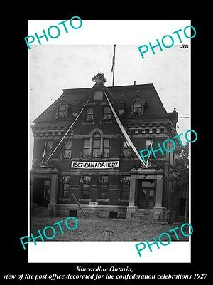 OLD LARGE HISTORIC PHOTO OF KINCARDINE ONTARIO CANADA, THE POST OFFICE c1927