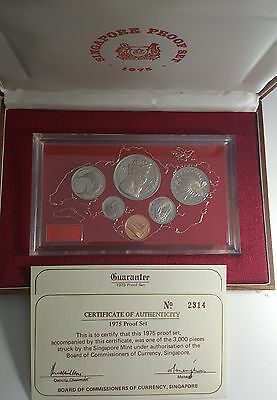 1975 Singapore Proof Set - Excellent Condition. - Only 3000 Issued - RARE