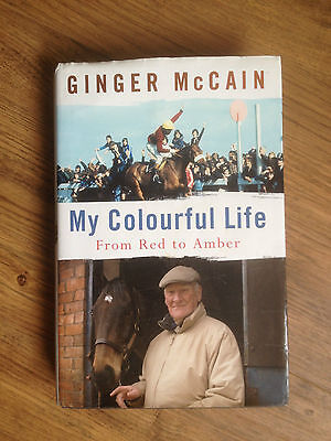 GINGER McCAIN MY COLOURFUL LIFE- HORSE RACING TIMEFORM HARDBACK 1st