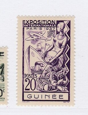 A3P16 French Guinea 1937 20c mh* #129