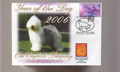 Old English Sheepdog 2006 Year Of The Dog Stamp Cover 3