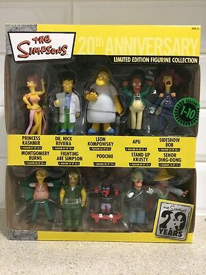 The Simpsons -  20Th Anniversary Limited Edition Figurine Seasons 1-10 - New!