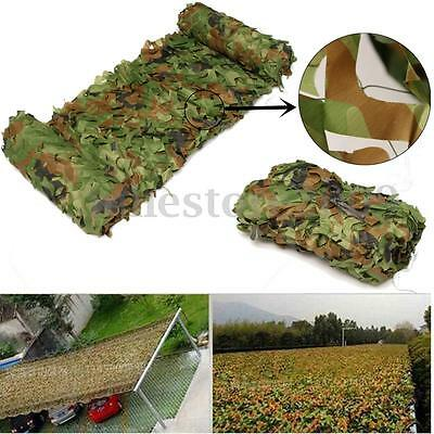 7m x 1.5m Woodland Camouflage Net Shooting Hide Army Hunt Camo Netting Hide
