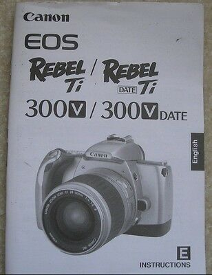 Used Original OEM Canon EOS Rebel Ti - Users Instruction guide Book