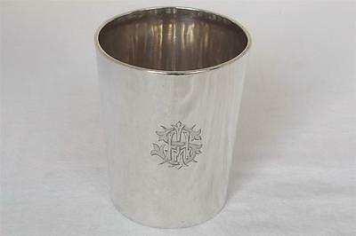 An Antique Solid Sterling Silver Victorian Beaker Cup London 1889 Edward Hutton
