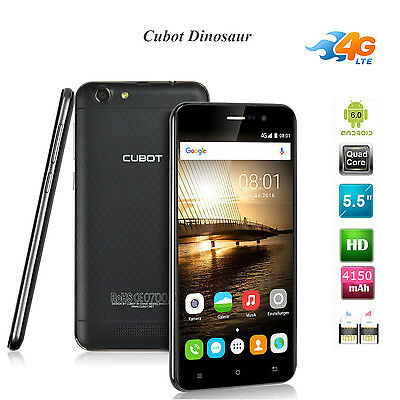 5.5 Pollici CUBOT Dinosaur 3G Cellulare Smartphone Android 16GB/3GB 13MP Nero