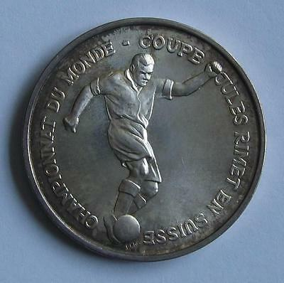 Silver Commemorative Medal FIFA World Cup 1954 Switzerland Top Condition Scarce