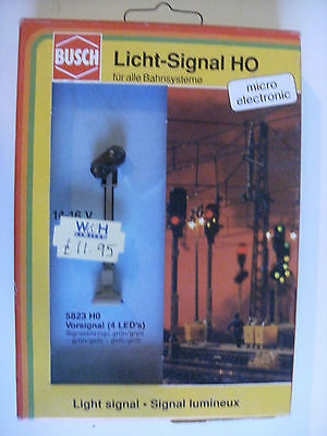 Model Train Railway Supplies - Busch 5823 H0 5823 Vorsignal 4 LED