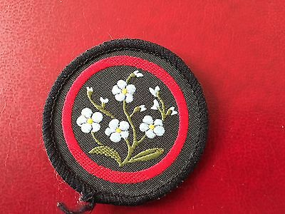 Girl Guide Patrol Badge Forget Me Not