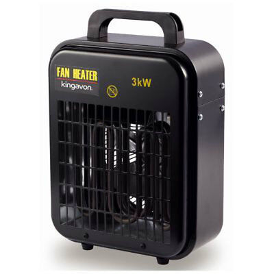 3Kw Square Industrial Workshop Electric Portable Space Fan Heater Office New