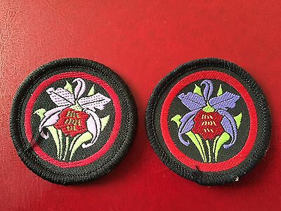 Girl Guide Patrol Badge Orchids