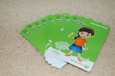 Woolworths World Explorer Cards Full Australia Set 17-24 With Stickers