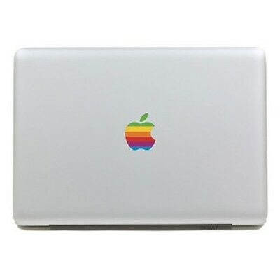 RAINBOW APPLE Retro Laptop Vinyl Sticker Decal for MacBook [Fits all sizes]