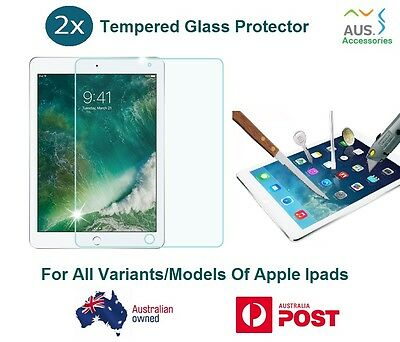 "2X Tempered Glass Screen Protector 9H iPad Air 2 Pro 9.7"" 10.5"" 12.9"" Mini 4 3 2"