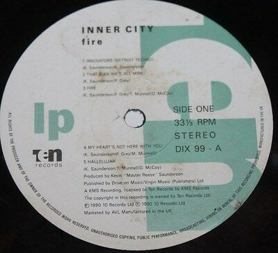 INNER CITY * FIRE * Classic Detroit Techno House Vinyl Album LP