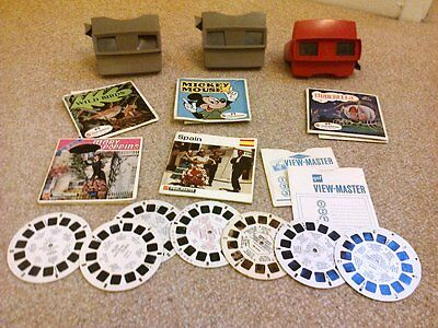 3 x View Master viewers and slide reels rare collectable Bargain bundle job lot