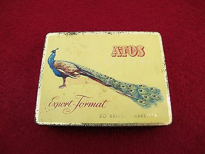 Old tin, tin can, cigarette tin, Atos Auslese 20 Orient Cigarettes 1958