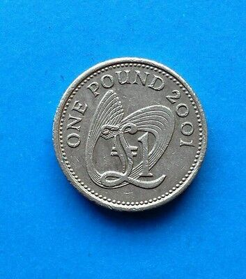 2001 Bailiwick of Guernsey £1 coin