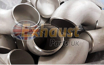 48mm OD x 3mm 90 Degree Bend Elbow 304 Stainless Custom Exhaust Manifold Elbows