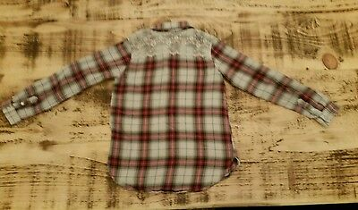 7-8y 128 Checkered lacy blouse H&M L.O.G.G