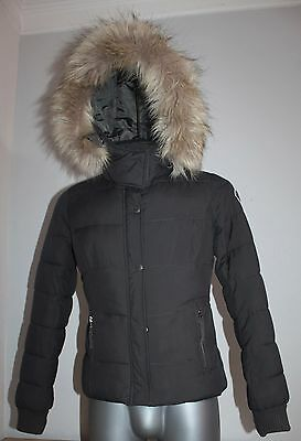 Womens ABERCROMBIE & FITCH Jacket Down Grey Poliester Winter Outdoor Size M