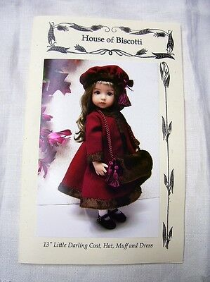 """Effner 13"""" Little Darling Pattern for  Coat, Dress, Hat and Muff"""