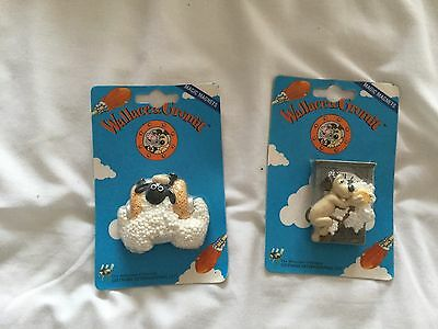 Wallace And Gromit Fridge Magnets X 2 Sealed Shaun Sheep & Gromit
