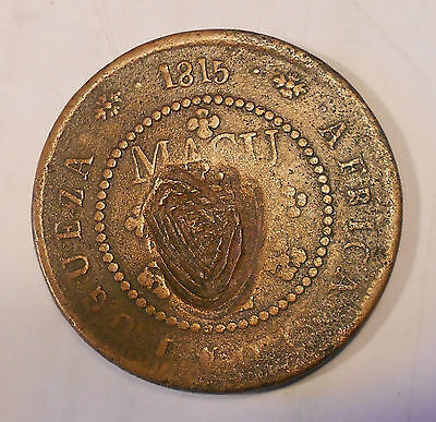 Angola 2 Macutas, 1815 with countermark 1853 VERY RARE!!!!!!!!!!!!!!!!!!!!!!!!!!