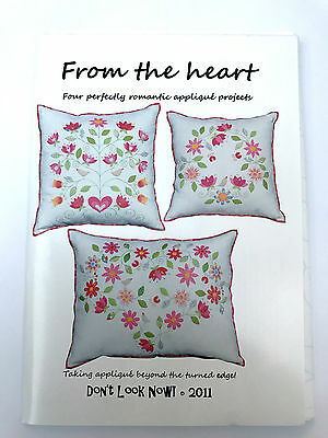 From The Heart Floral Applique Cushion Pattern By Don't Look Now